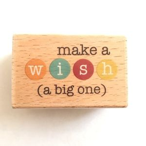 Make a Wish Rubber Stamp New Card Craft Birthday A